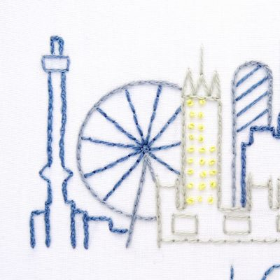 London City Skyline Hand Embroidery Pattern