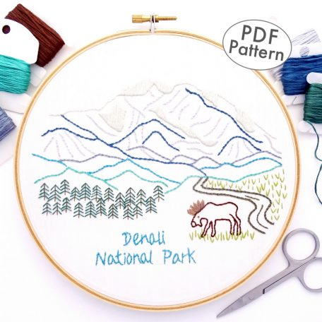 Denali National Park Hand Embroidery Pattern