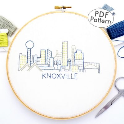 Knoxville City Skyline Hand Embroidery Pattern