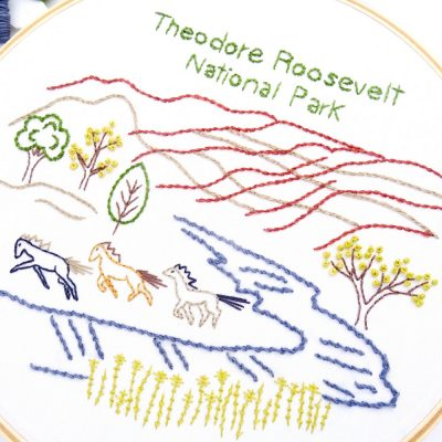 Theodore Roosevelt National Park Hand Embroidery Pattern
