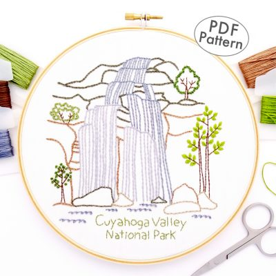 Cuyahoga Valley National Park Hand Embroidery Pattern
