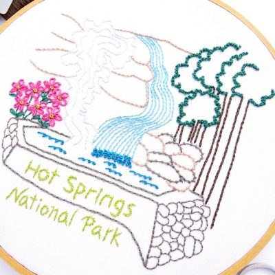 Hot Springs National Park Hand Embroidery Pattern