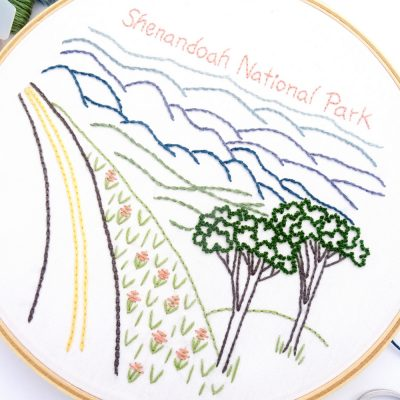 Shenandoah National Park Hand Embroidery Pattern