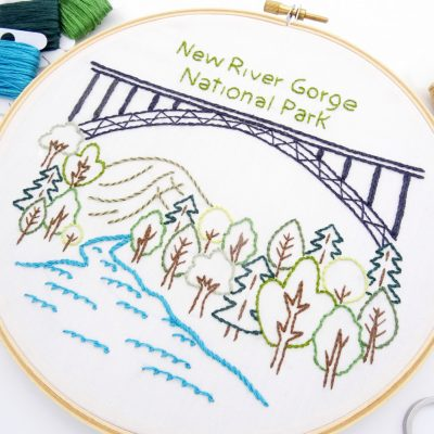 New River Gorge National Park Hand Embroidery Pattern