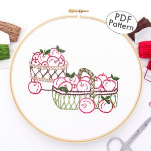 Apple Baskets Hand Embroidery Pattern
