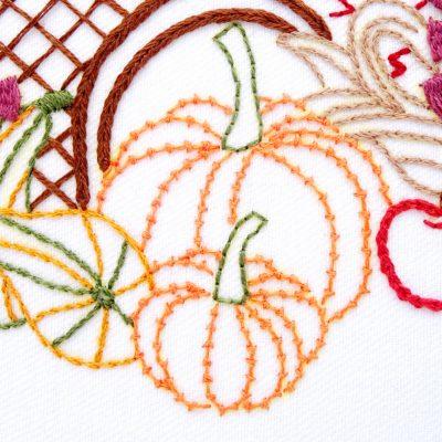 Cornucopia Hand Embroidery Pattern