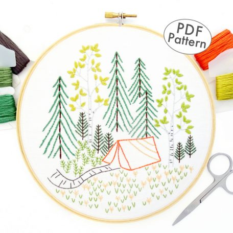 Summer Forest Hand Embroidery Pattern