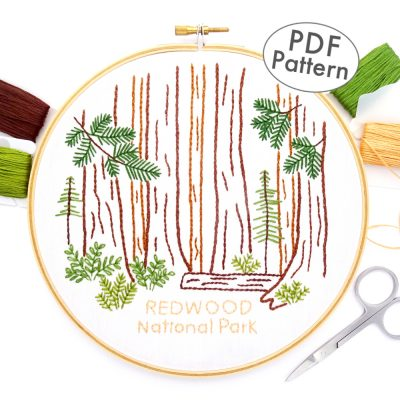 Redwood National Park Hand Embroidery Pattern