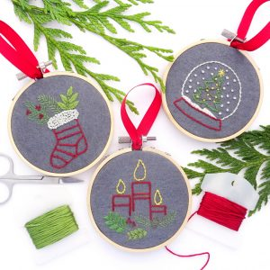 Holiday Traditions Ornament Set Hand Embroidery Pattern